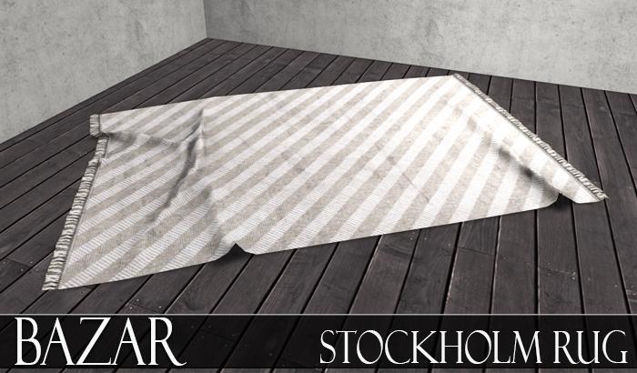 ~BAZAR~Stockholm Rug