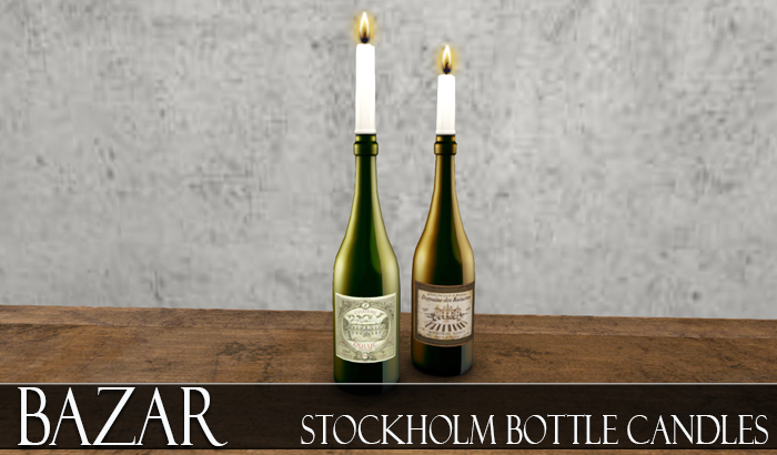 ~BAZAR~Stockholm Bottle Candles