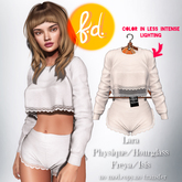 (fd) Romantic Sweats - Cream Maitreya Lara/Slink Physique+Hourglass/Belleza Freya+Isis (MESH)