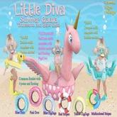 ~Little Diva~Yellow ZigZag Floatie