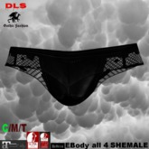 shemale panties black dotted net boxed