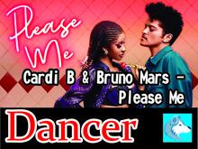 Cardi B & Bruno Mars - Please Me Dancer Boxed
