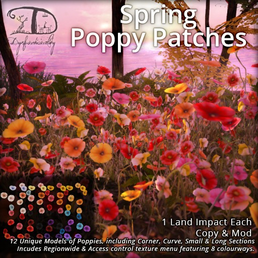 [DDD] Spring Poppy Patches - 1 LI, look great from all angles!