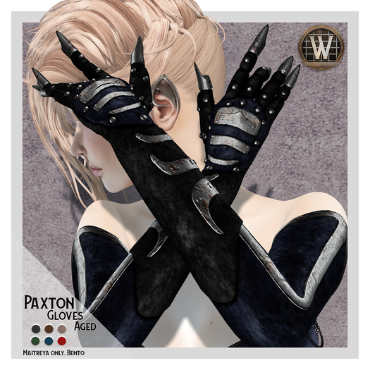 Wicca's Wardrobe - Paxton Gloves (aged) [BOXED]