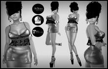 DEMO- Silver Mini Dress