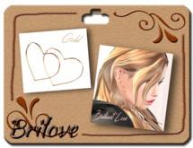 {Brilove} Hoop pierced - heart - Gold