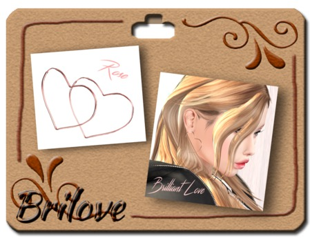 {Brilove} Hoop pierced - heart - Rose Gold