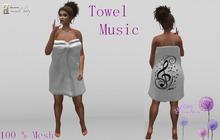 [T666C] Towel Maitreya Music Clara White-BOX