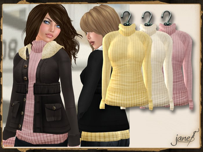 JANE - aviator sweater.greedy pack