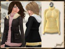 JANE - aviator sweater.honey
