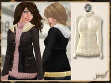 JANE - aviator sweater.cream