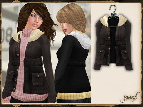 JANE - aviator jacket.truffle