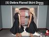 s  debra flared skirt dress black pic