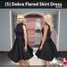 s  debra flared skirt dress black ad
