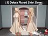 [S] Debra Flared Skirt Dress Beige