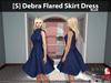 [S] Debra Flared Skirt Dress Blue