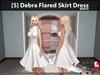 [S] Debra Flared Skirt Dress White