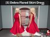 [S] Debra Flared Skirt Dress Red