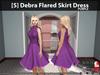 [S] Debra Flared Skirt Dress Purple