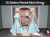[S] Debra Flared Skirt Dress Sky