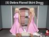 [S] Debra Flared Skirt Dress Pink