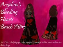Angelina's Bleeding Hearts Beach Gown Attire