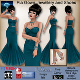 MESH Pia Gown, Jewellery and Shoes by Moonstar