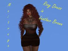 Angie's Rozy Dress Leather Brown mmm