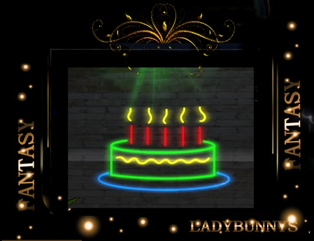 Incredible Second Life Marketplace Happy Birthday Cake Neon Sign Animated Personalised Birthday Cards Veneteletsinfo