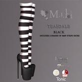 !MiH Teasdale Black plats & stripe socks (dk,med,lt) boxed