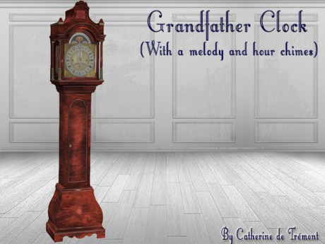 """CdT"" Grandfather clock Down Acajou"
