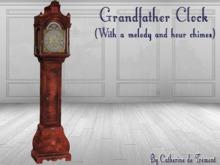"""""""CdT"""" Grandfather clock Down Acajou"""