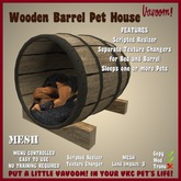 Wooden Barrel Pet House by Vavoom! (Boxed)