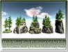 Mesh Moss Rock Fir Forest Set by Felix 5 Rock Module copy-mody