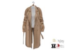 {amiable}Mesh Oversized Chester Coat01