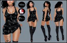 [DB] Gothic Mini Dress Outfit - Crosses - Maitreya Slink Belleza