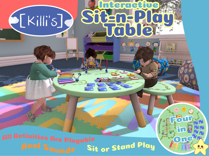 [Killi's] Sit-N-Play Table Jungle - Interactive (Sit or Stand)