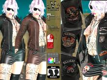 V-Twins- Biker Clothes - Routine Biker Version **MESH Outfit [Mesh Bodies Compatible] Maitreya Slink Belleza