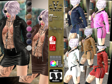 V-Twins- Biker Clothes - Routine Casual Version **MESH Outfit [Mesh Bodies Compatible] Maitreya Slink Belleza