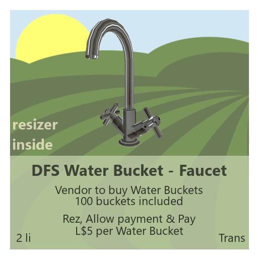 DFS Water Bucket - Faucet
