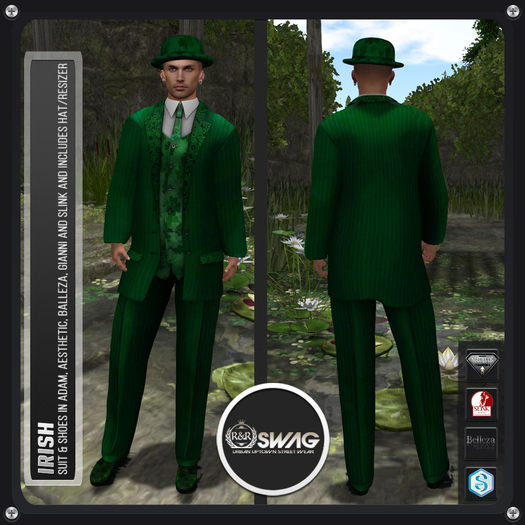 [RnR] Swag Mens Irish Suit St Patrick's Day Outfit