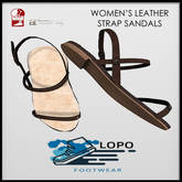 [LoPo Footwear] Leather Strap Sandals - BOXED