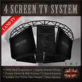 Central 4 Screen Television System LAND TV
