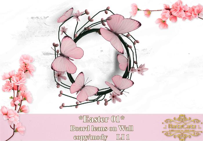 .: RatzCatz :. Wreath *Butterflies* pink