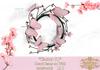 Wreath pink butterflies