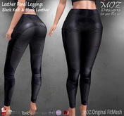 !MOZ Leather Panel Leggings - Black Knit * MAITREYA * SLINK * BELLEZA (I/F) * TONIC * EVE * eBODY