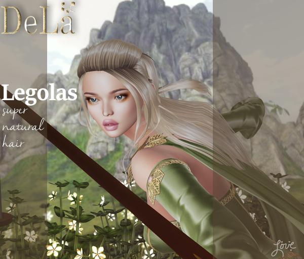 "=DeLa*= Mesh Hair ""Legolas"" Demo"