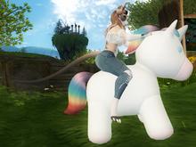 ~PW~ Rainbow Unicorn Plush Mount MOD