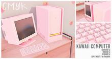 CMYK // Kawaii computer (pastel pink) unpack