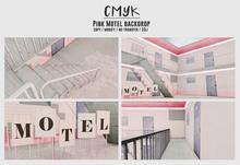 CMYK// Pink Motel backdrop (unapck)